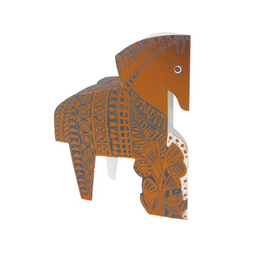 Judy Lumley Copper Horse 3D card