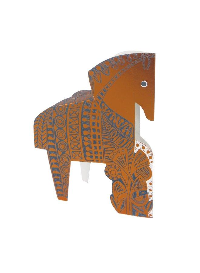 Copper Horse 3D card