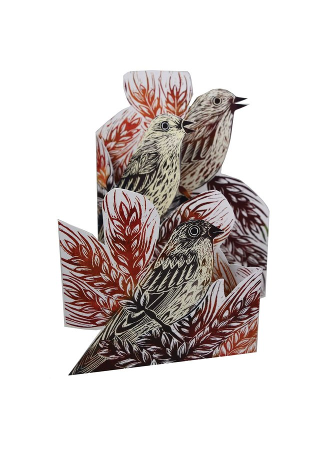 Corn Bunting Trifold 3D card