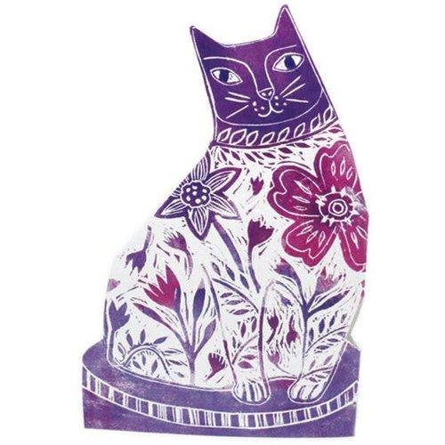 Judy Lumley Flower purple  3D Card