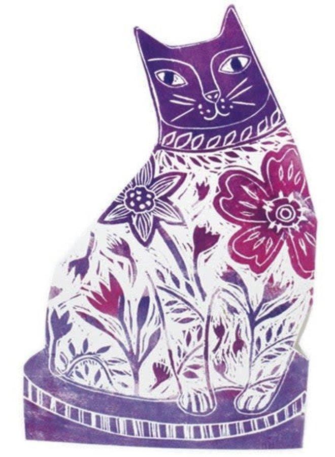 Flower purple  3D Card