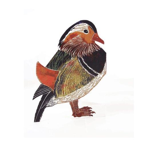 Judy Lumley Mandarin Duck 3D card