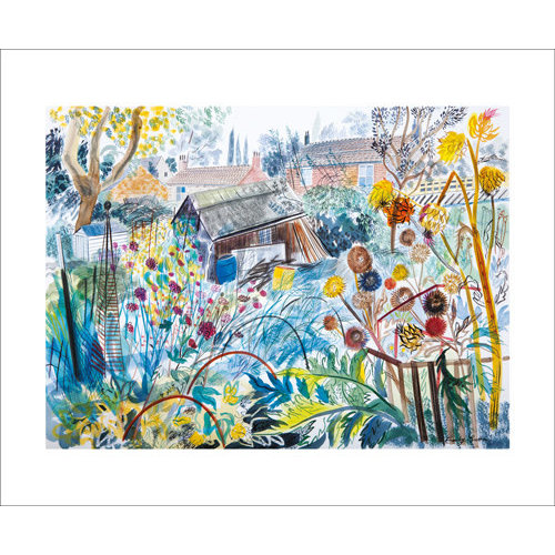 Art Angels Allotment with Caroons card by Emily sutton