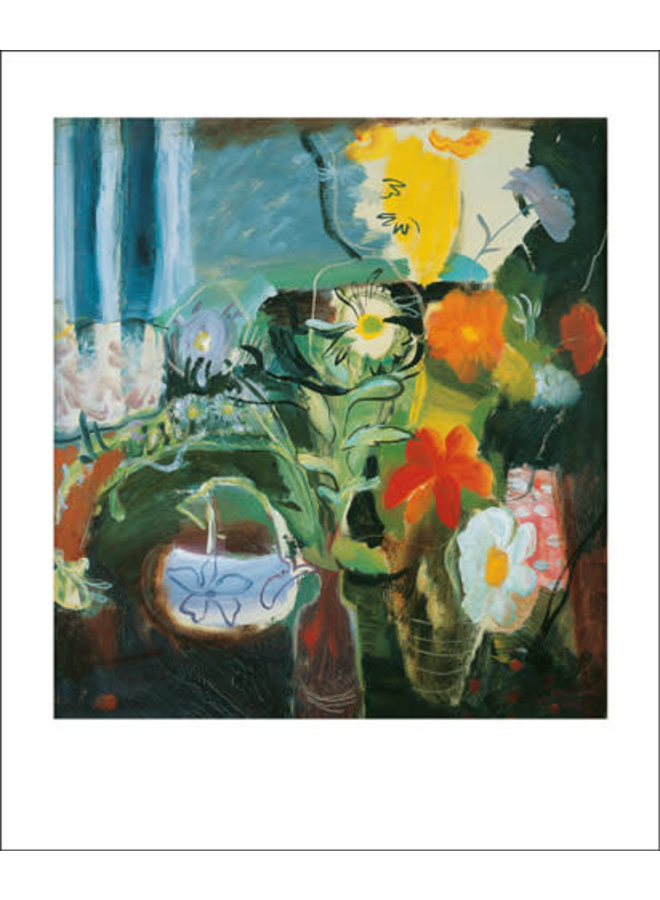Flowers card by Ivon Hitchens