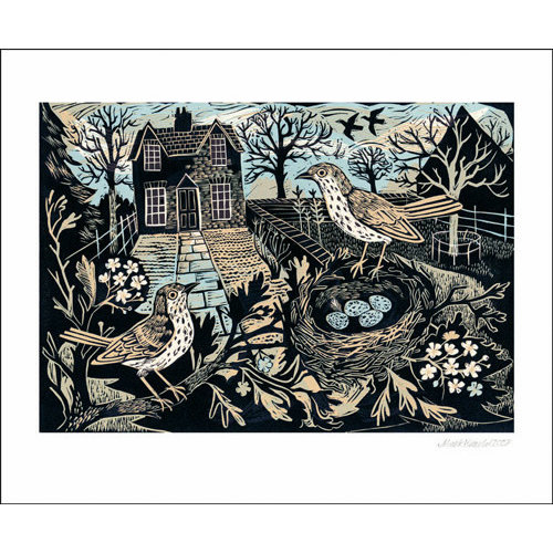 Art Angels Garden Birds card by Mark Hearld