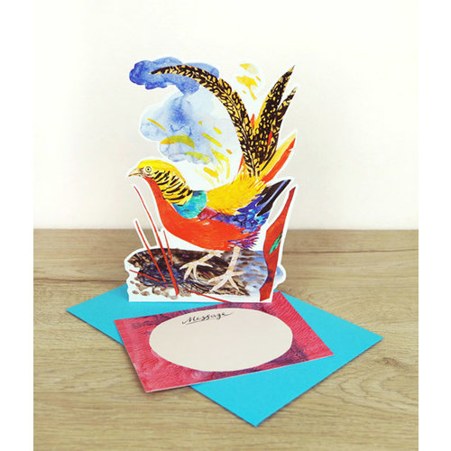 Art Angels Golden Pheasant card by Mark Hearld