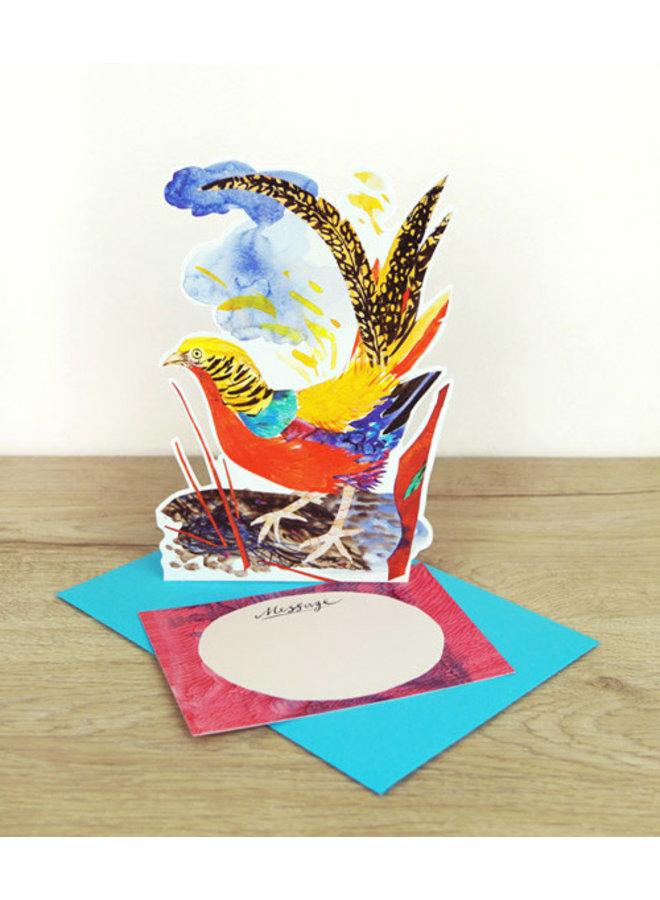 Golden Pheasant card by Mark Hearld