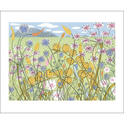 Art Angels Machair card by Angie Lewin