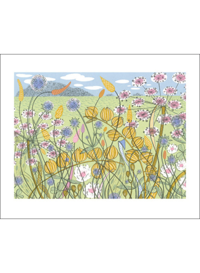 Machair card by Angie Lewin