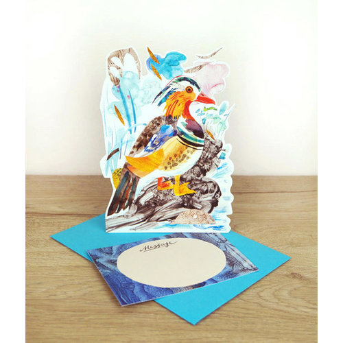 Art Angels Mandarin Duck  card by Mark Hearld
