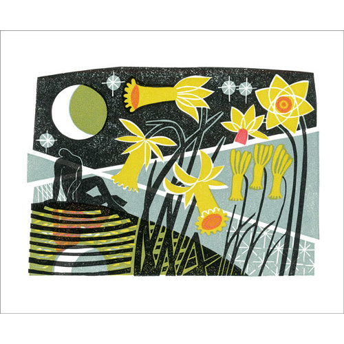 Art Angels Narcissus card by Clare Curtis