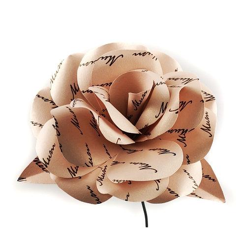 Paris Cheetham Día de la Madre Especial Flor de Papel Melocotón 42