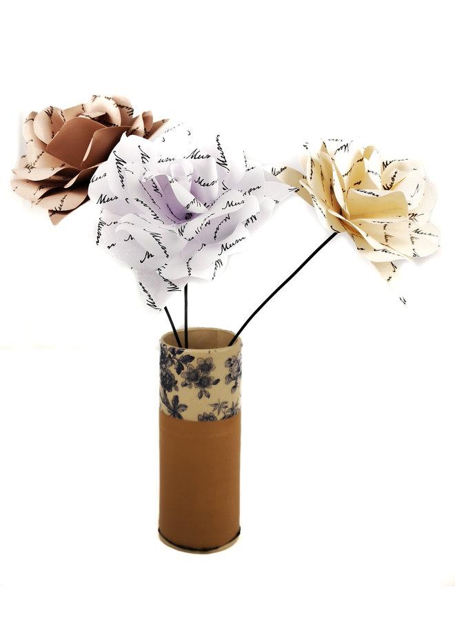Muttertag Spezialpapier Blumenpfirsich 42