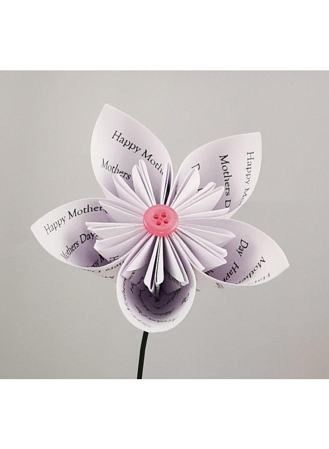 Muttertag Spezialpapier Blume Weiß 43