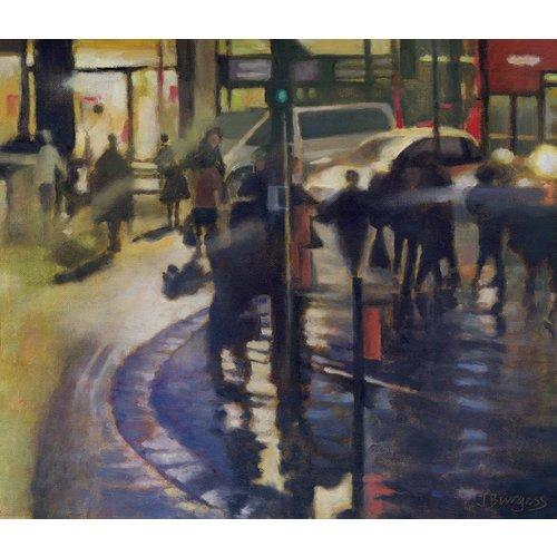 Jane Burgess Late Night Shopping II  Oil 011