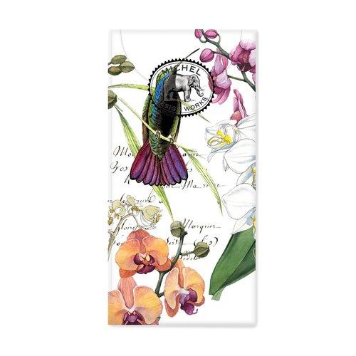 Michel Design Works Orquídeas en flor 10 pañuelos de papel de bolsillo