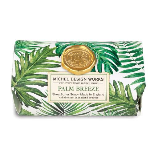 Michel Design Works Barra de jabón de karité de baño grande Palm Breeze