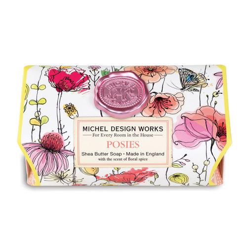 Michel Design Works Barras de jabón de karité para baño grande Posies