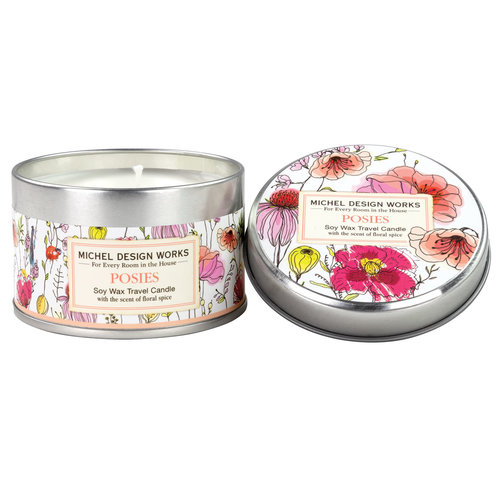 Michel Design Works Posies Travel Candle