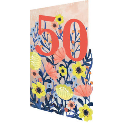 Roger La  Borde 50 Flowers  3D Card