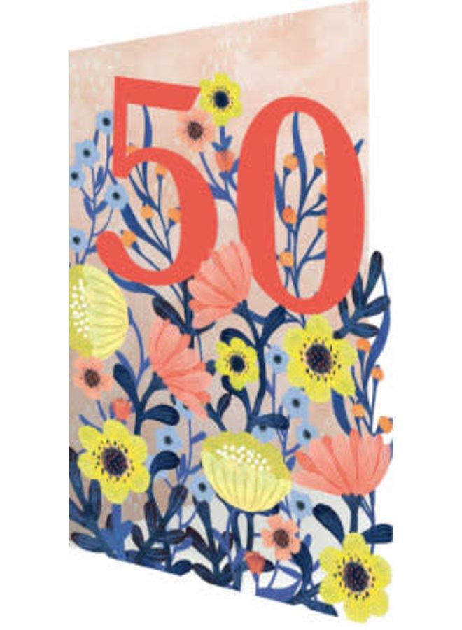 50 Flowers  3D Card