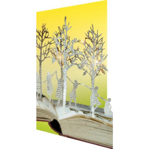 Roger La  Borde Dancing Bellow Trees and Birds  3D Card