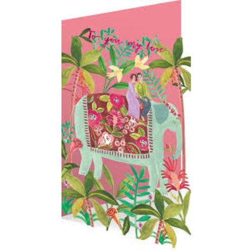 Roger La  Borde Elephant Love  by Rosie Harbottle Laser Card
