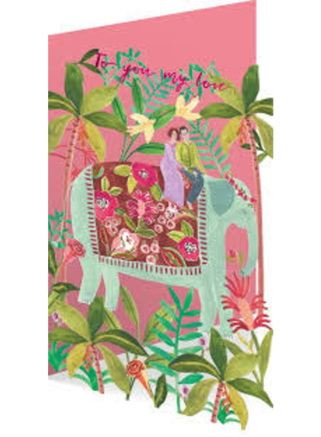 Elephant Love  by Rosie Harbottle Laser Card