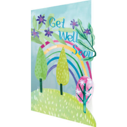 Roger La  Borde Get Well Rainbow 3D Card