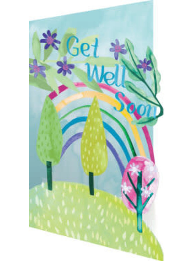 Get Well Rainbow 3D Card