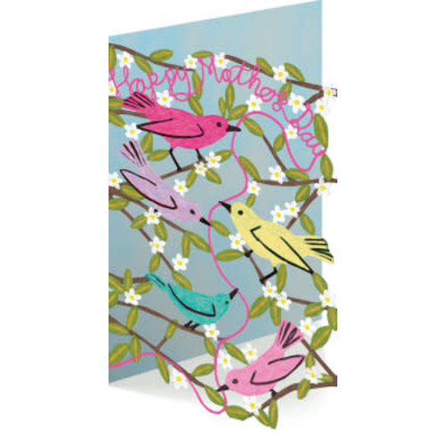 Roger La  Borde Happy Mother's Day with Birds 3D Card