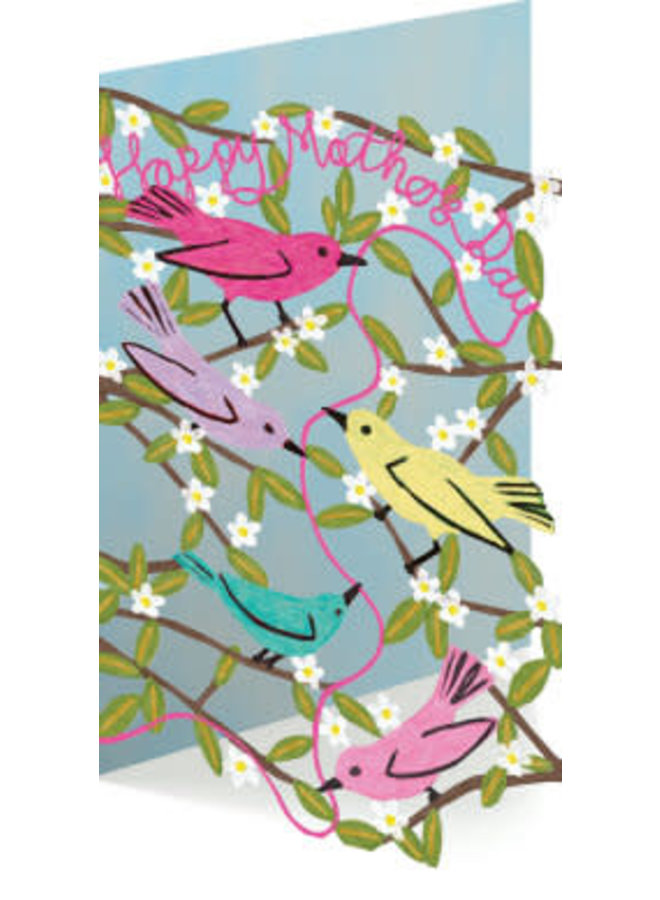Happy Mother's Day with Birds 3D Card