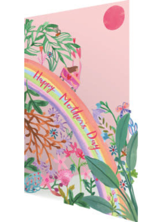 Happy Rainbow Mother's Day 3D Card