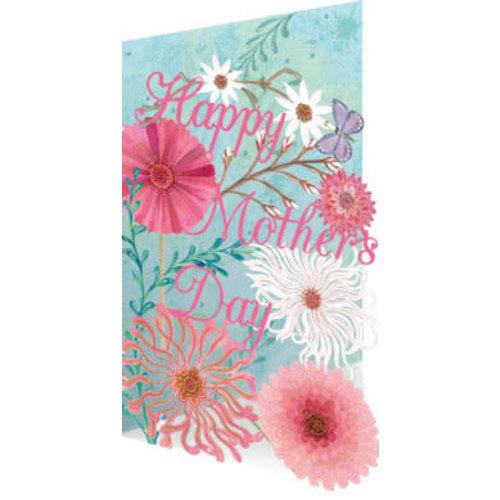 Roger La  Borde Mothers Day Flower blooms Laser Card