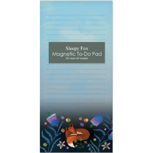 Roger La  Borde Night fox magnetic note pad 80 pages