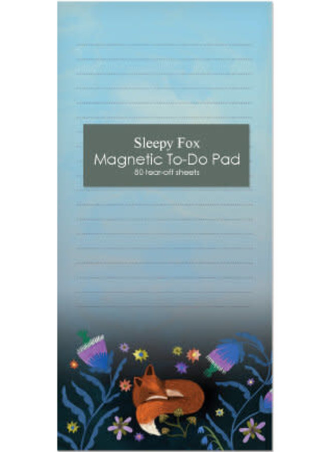 Night fox magnetic note pad 80 pages