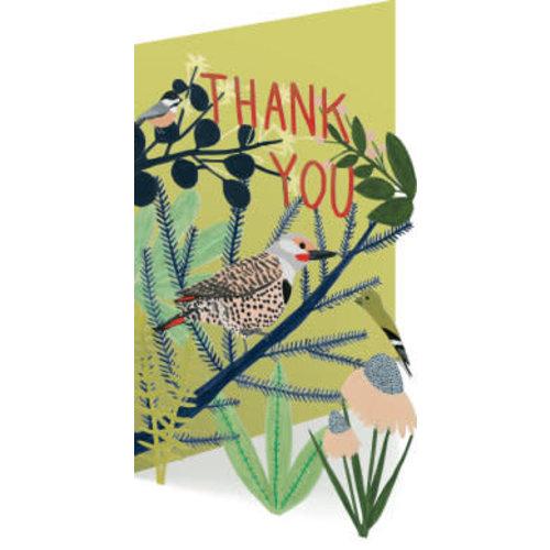 Roger La  Borde Thank You Birds 3D Card