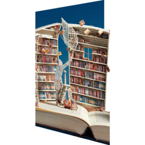 Roger La  Borde The Book Collector 3D Card