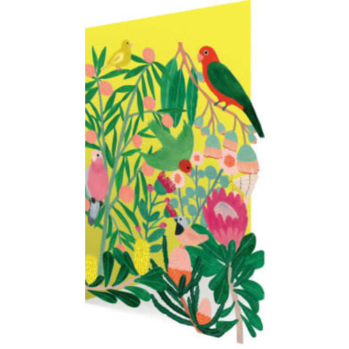 Roger La  Borde Tropical Garden 3D Card