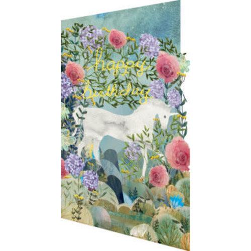 Roger La  Borde Unicorn Dreamland 3D Card