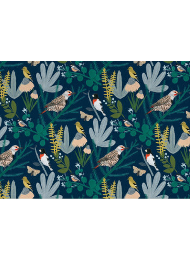 Birds in Branches with Night Sky Gift Wrap