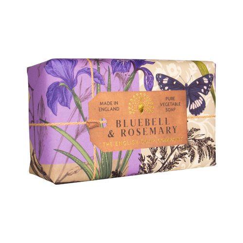 English Soap Company Bluebell & Rosemary Pure Vegetable Soap