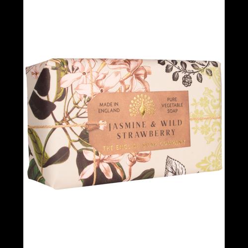 English Soap Company Jasmine & Wild Strawberry Pure Vegetable Soap