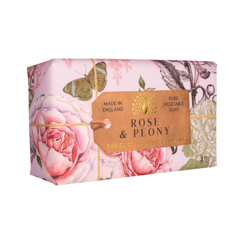 English Soap Company Rose & Peony Pure Vegetable Soap