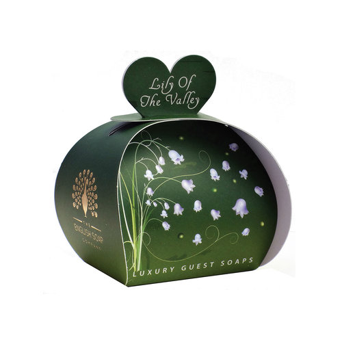 English Soap Company Lily of the Valley Luxury x3  Mini Guest Soap