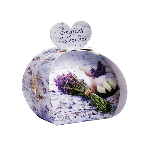 English Soap Company English Lavender Luxury x3  Mini Guest Soap