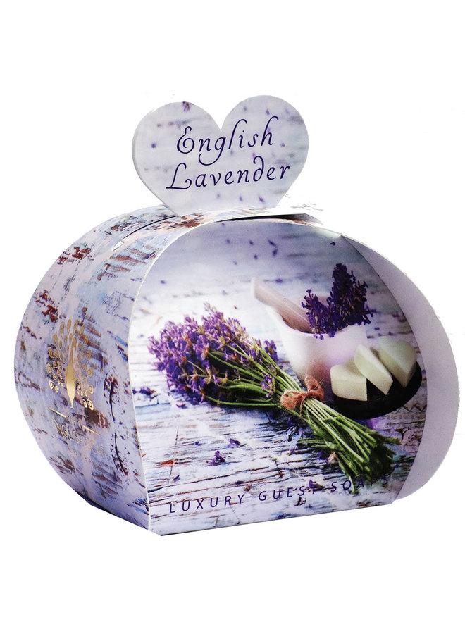 English Lavender Luxury x3  Mini Guest Soap