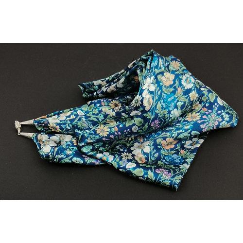 Lady Crow Silks Medianoche Rachel Satén y pañuelo de seda con cierre magnético En caja 115