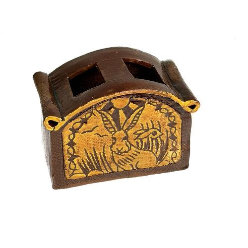 Glandwyryd Ceramics Hares Slipware Utensilienglas 009