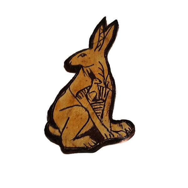 Zwei Hares Slipware Wandrelief 024